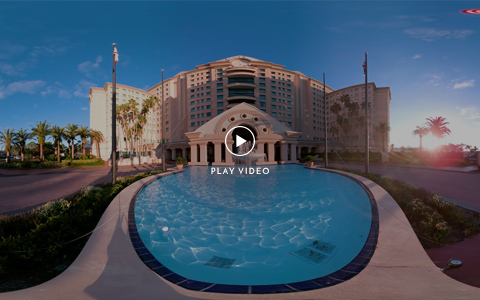 Florida Conference Center Outdoor Entrance Sunrise Video Thumbnail
