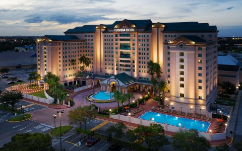 Florida Hotel property night view
