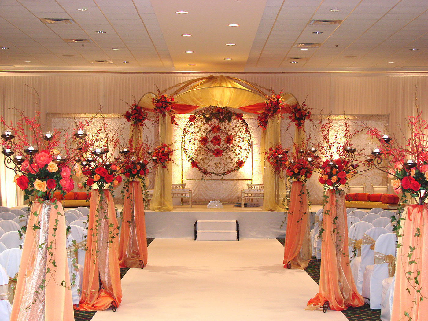 Setup of ethnic wedding ceremony
