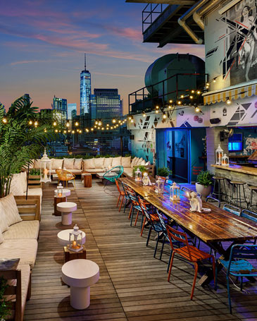 AZUL on the rooftop<span>Manhattan</span>