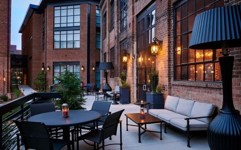 foundry hotel patio area