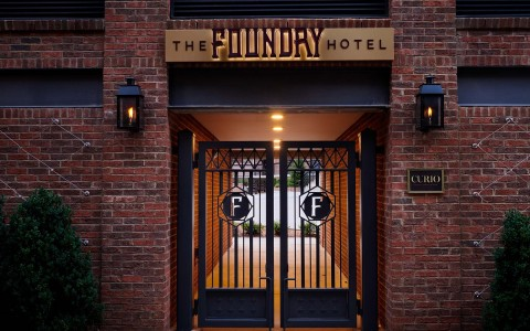 foundry hotel iron doors