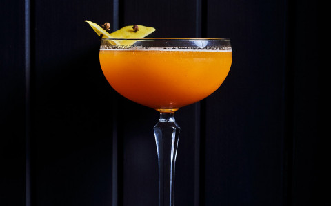 fruity orange cocktail