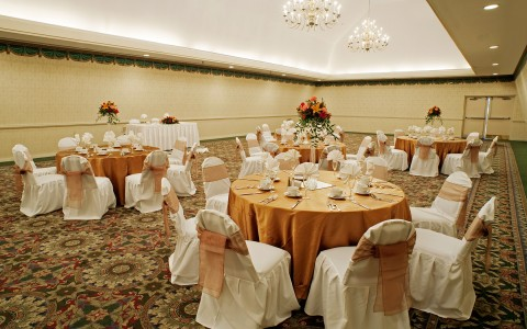 Presidential Ballroom event space ready for a wedding reception