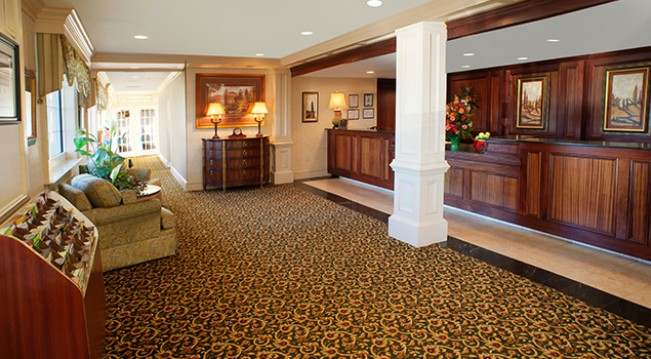 Lobby at Fredericksburg Hospitality House Hotel & Conference Center
