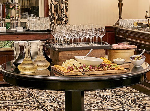 Wine and cheese buffet