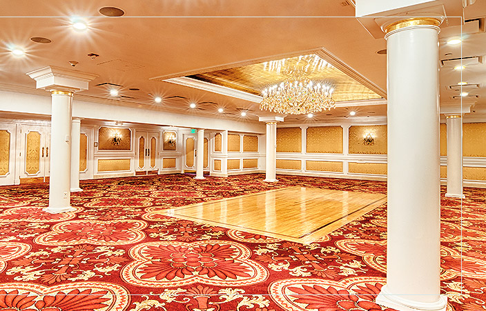 empty Grand Salon with wood dance floor