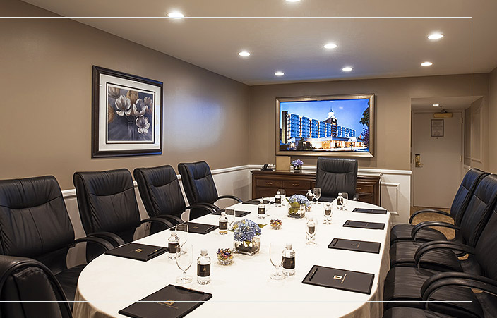 Nassau Conference room setup for a board meeting