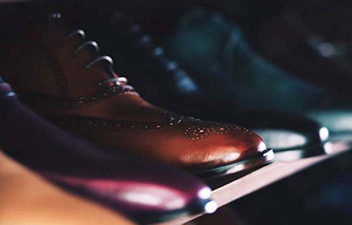 polished men shoes