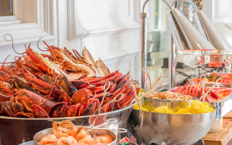 seafood buffet at brunch