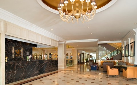 Hotel Lobby with tile floors