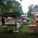 Food Truck Festival filled with people in Peddlers Village
