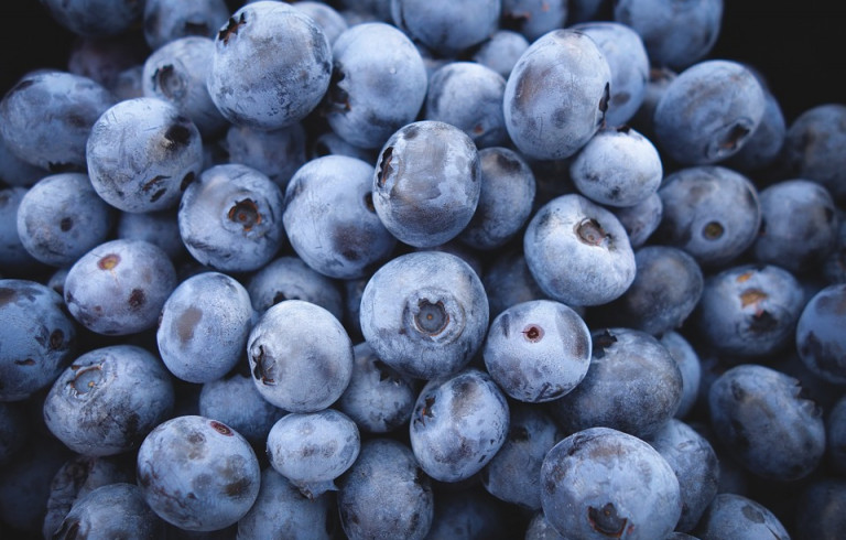 Fresh Blueberries in a pile