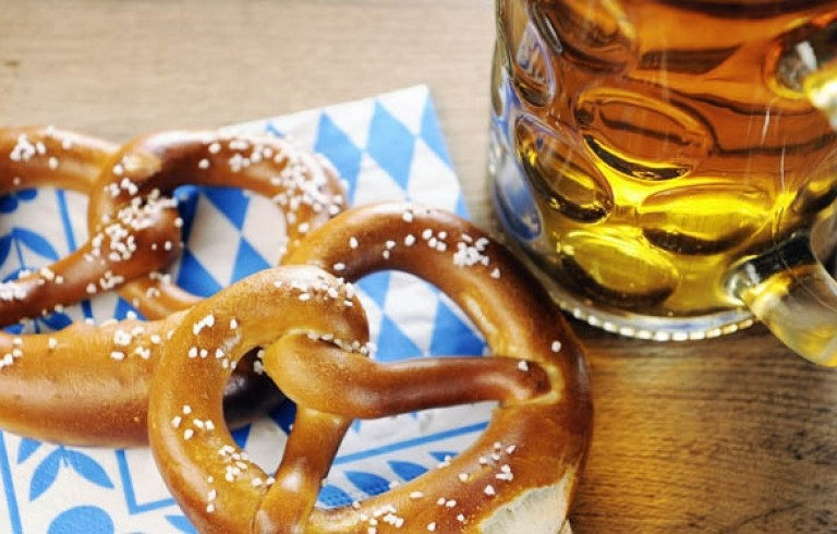 Soft pretzels & beer