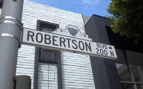 robertson blvd sign