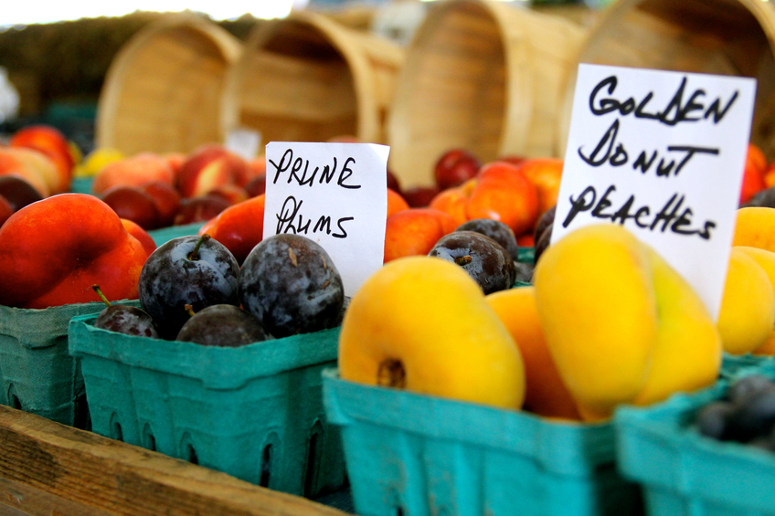 fruits at a farmers market