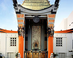 TLC Chinese Theatre with pagoda architecture with dragon decor