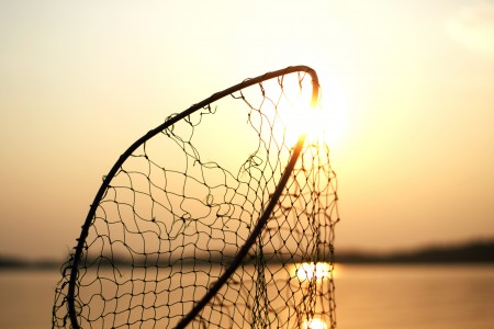 Sunset and Fishing Net