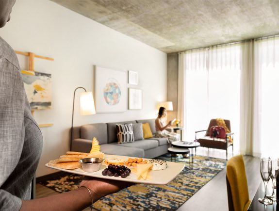 twelve hotels in-room dining