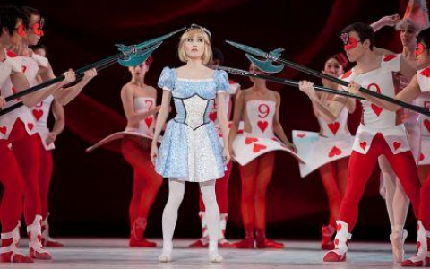 Alice and the Red Queens Guards from the Ballet Alice in Wonderland