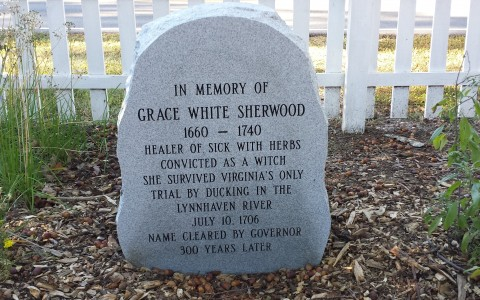 Grace Sherwood Memorial Stone