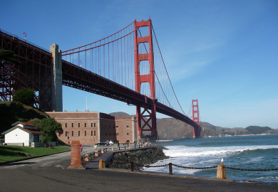 San Francisco bridge and bay
