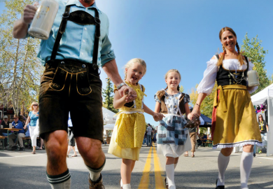 Oktoberfest Family in a parade