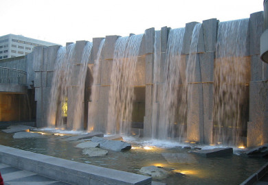 Fountain Waterfall at San Franciscos Yerba Buena Gardens