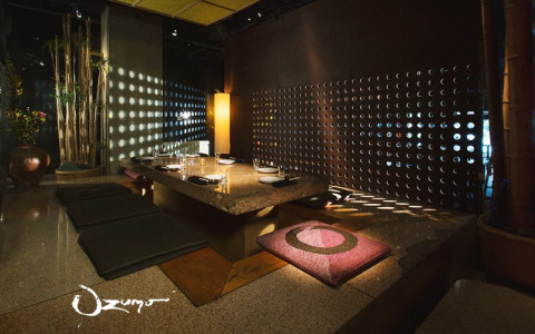 Ozumo dining room with wooden table and chairs