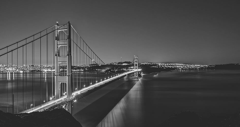 San Francisco's Golden Gate on Black and White