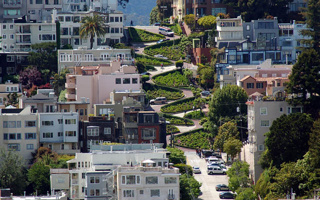 Lombard Street Arial View