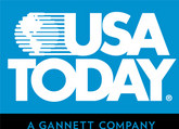 USA Today logo that is light blue and white