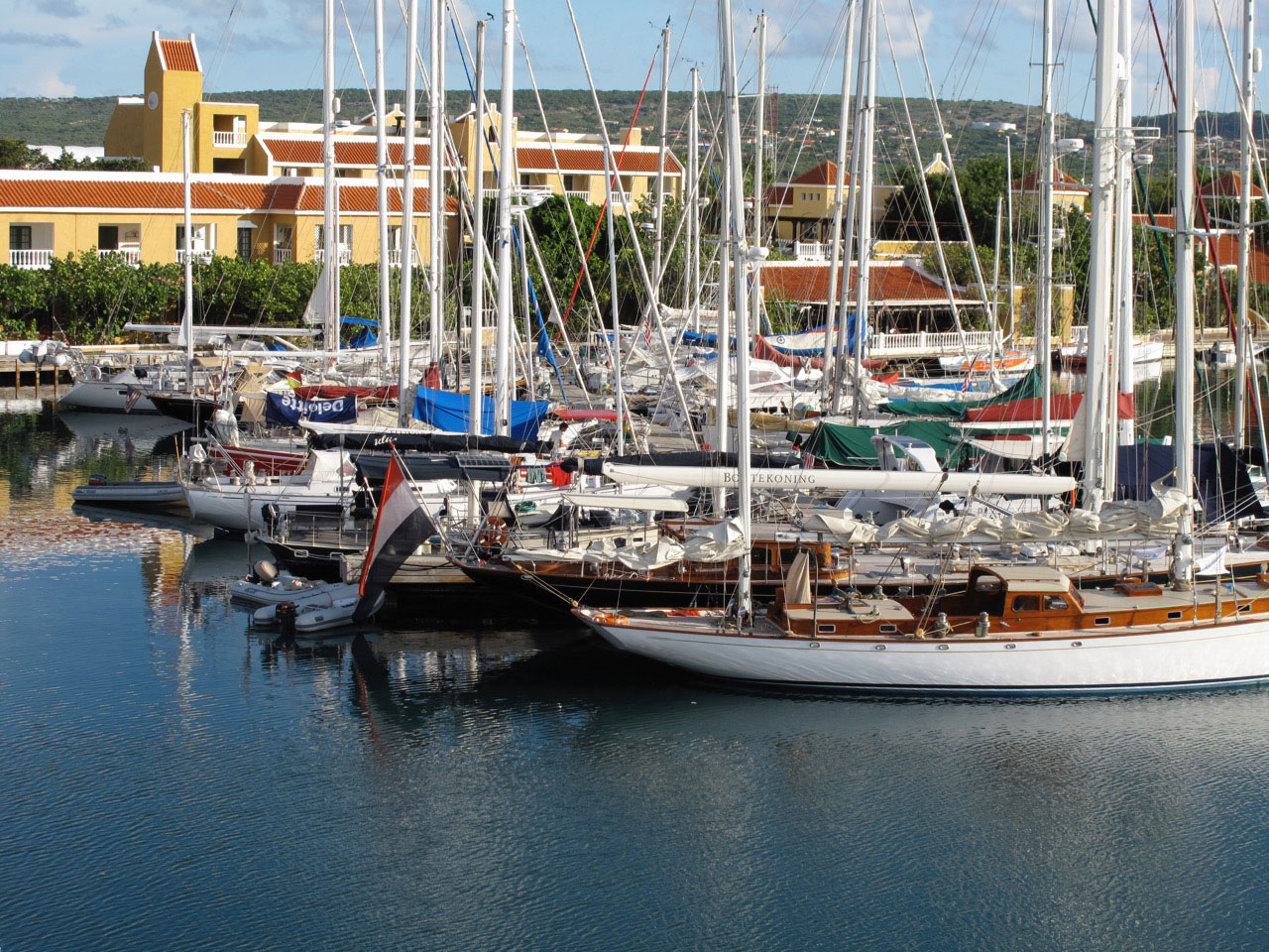 marina with sail boats