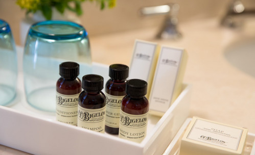 essential oils in a box on the counter