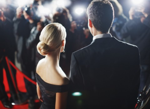 couple at red carpet award show