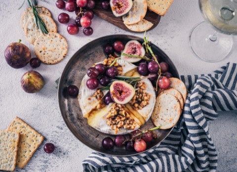 fig and cheese plate