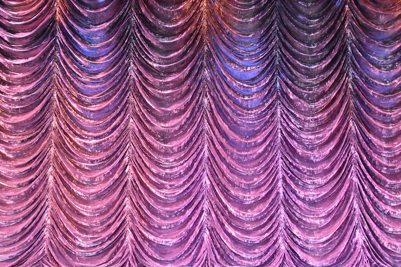 purple glimmering curtain