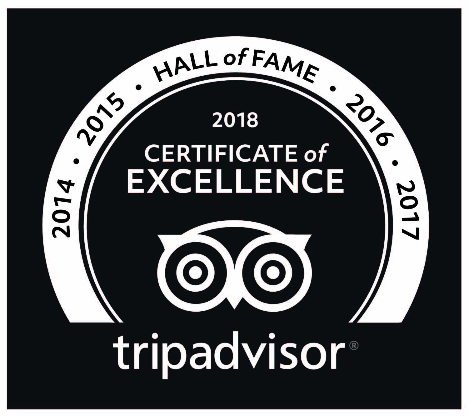 imageTripadvisor hall of fame badge
