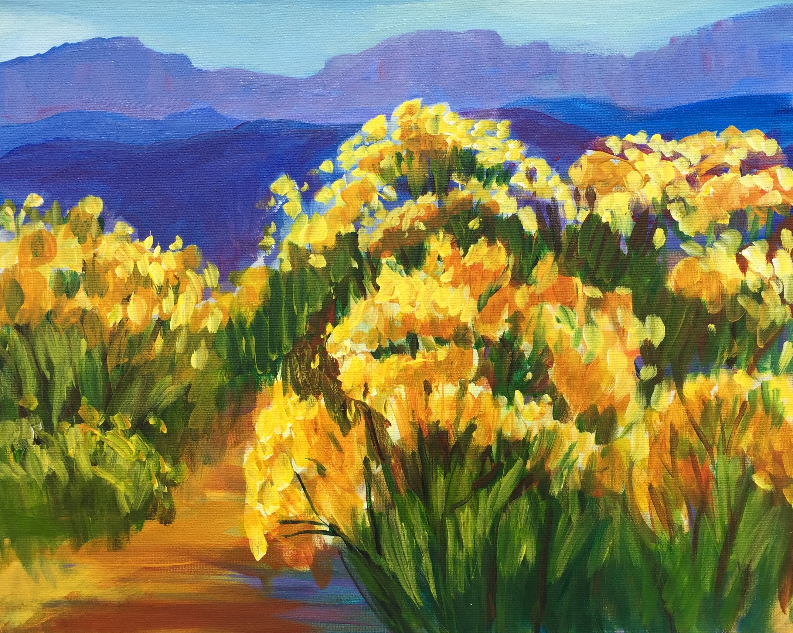 Painting of yellow flowers