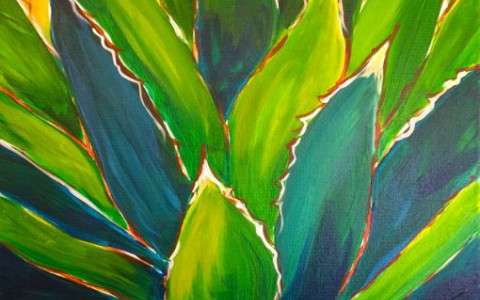 Painting of Desert Agave