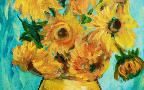 oct_van gogh sunflowers