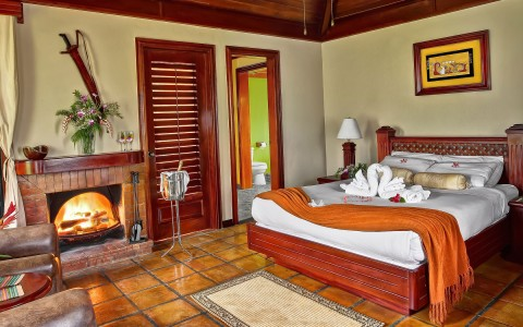 In-room fireplaces spark romance in Belize - Estate Suites