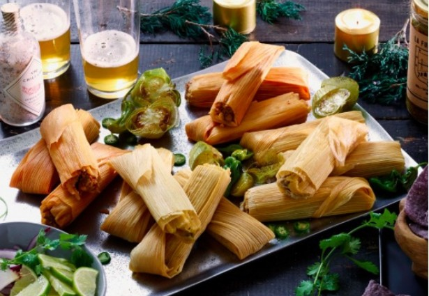 close up of tamales