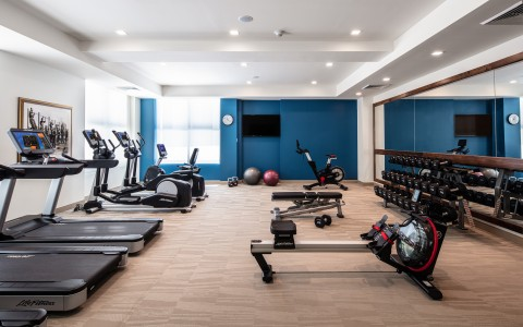 image of fitness center with various exercise machines