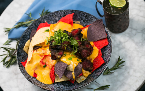 gourmet nachos at proof and provision