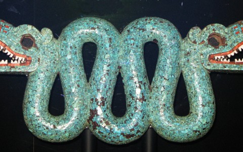 Double Headed Turquoise Serpent
