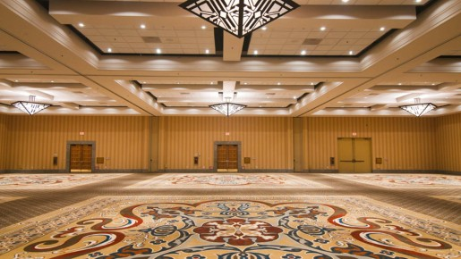large open empty ballroom
