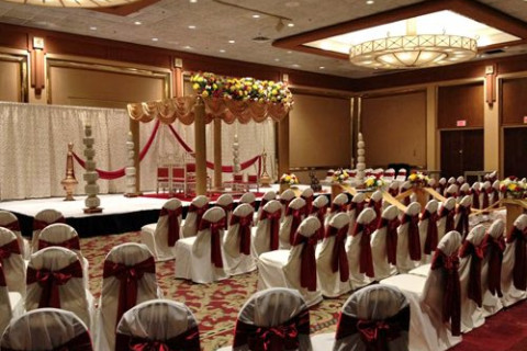 chairs set for a wedding ceremony