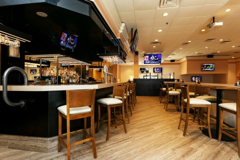 sportzone bar area with high tops