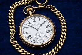 Gold Pocketwatch with Roman Numerals
